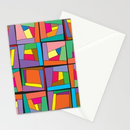 Colorful modules Stationery Cards