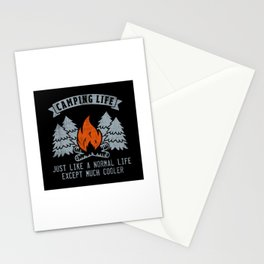 Camping Life Just Like A Normal Life - Funny Camping Quote Gift Stationery Cards