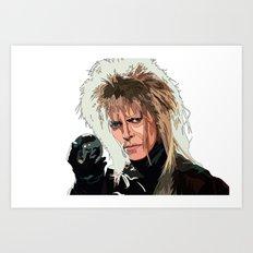 D. Bowie, inside the labyrinth Art Print