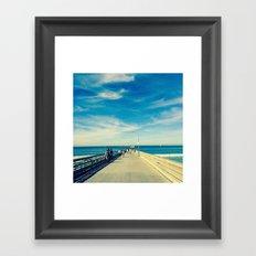 Pier Blue Framed Art Print