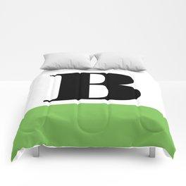 Monogram Letter B (color block) Comforters