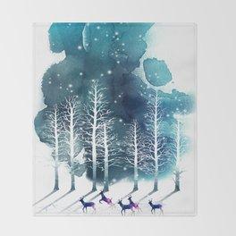 Winter Night 2 Throw Blanket