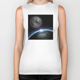 Earth and moon Biker Tank