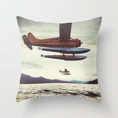 Fly me to Alaska Throw Pillow