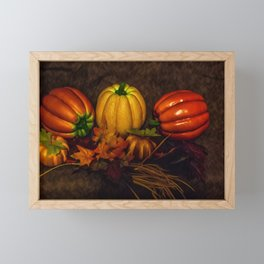 Autumn Pumpkins Framed Mini Art Print