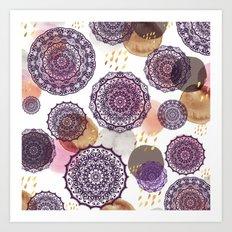 Fall Love Mandalas Art Print