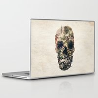 skull Laptop & iPad Skins featuring Skull Town by Ali GULEC