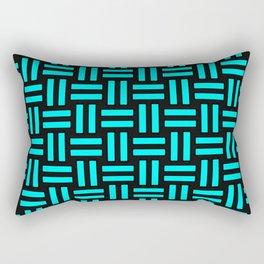 Equal Parts Aqua Rectangular Pillow