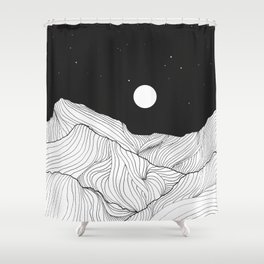 Lines in the mountains II Shower Curtain