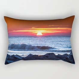 Sunset and a wave Rectangular Pillow