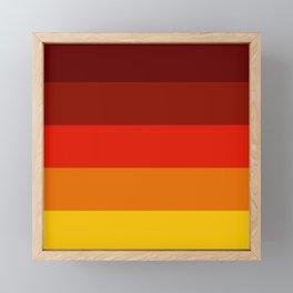 Multicolor Retro Strips Framed Mini Art Print