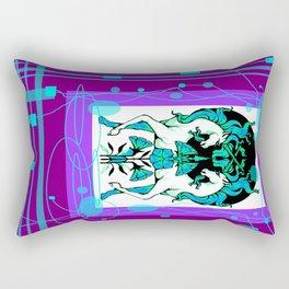 Ethereal Aqua-Purple Unicorns abstract Rectangular Pillow