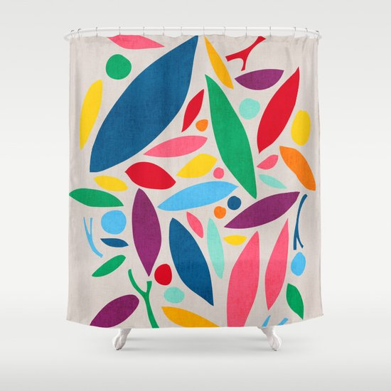 Found Objects Shower Curtain