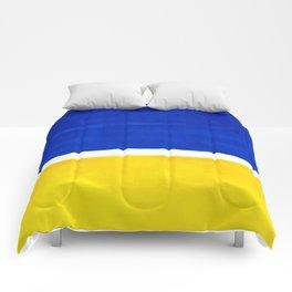 Colorful Bright Minimalist Rothko Blue Yellow Midcentury Modern Art Vintage Pop Art Comforters