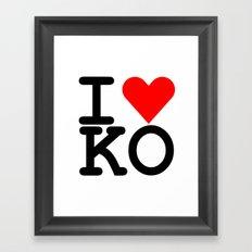 I Heart KO Framed Art Print