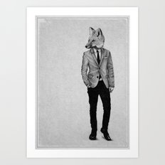 . foxy boy . Art Print