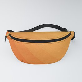 Shades of Sun - Line Gradient Pattern between Light Orange and Pale Orange Fanny Pack