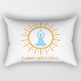 BOOMSHANKA (may the seed of your loin be fruitful in the belly of your woman) Rectangular Pillow