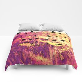Dandelions and Crows Comforters