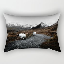 SHEEP - MOUNTAINS - SNOW - ROAD - PHOTOGRAPHY - FUNNY Rectangular Pillow
