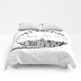 Los Angeles City in a Glass Ball Comforters