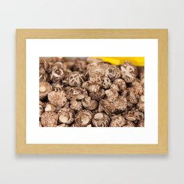 Mushrooms in a San Francisco Chinese Market Framed Art Print