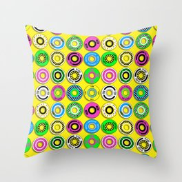 retro skate wheels Throw Pillow