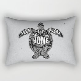 ocean omega (monochrome series) Rectangular Pillow
