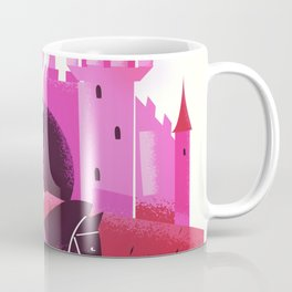 Medieval knight and Castle Coffee Mug