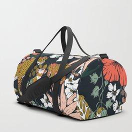 Animal print dark jungle Duffle Bag