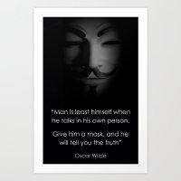 Men in a Mask Art Print