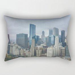 Skyline in the Fog Rectangular Pillow