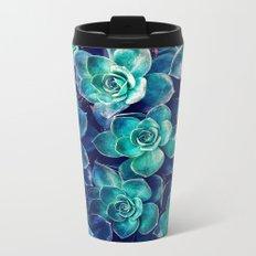 Plants of Blue And Green Metal Travel Mug