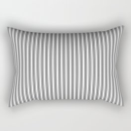 Trendy French Black and White Mattress Ticking Double Stripes Rectangular Pillow