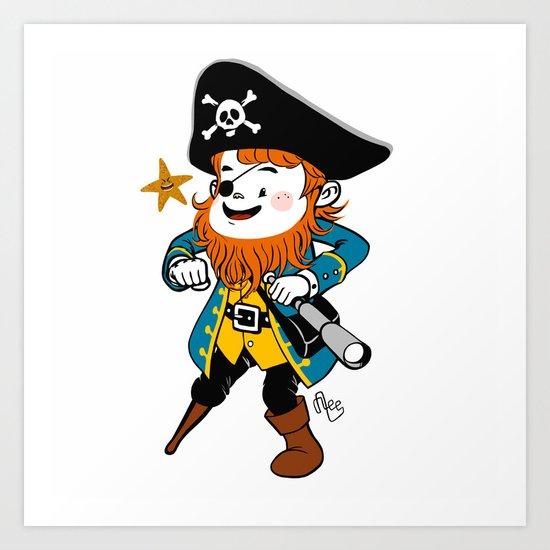 Pirate's Ahoy! Art Print
