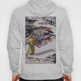 Pollock Clean Painting Parody Funny Abstract Hoody