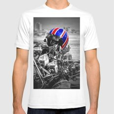 This is the modern world Mens Fitted Tee White MEDIUM