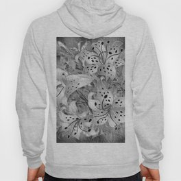 Black and White Floral Hoody
