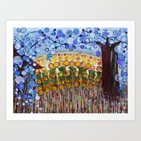 :: Indiana Blue Willow :: Art Print