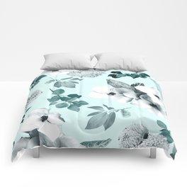 Night bloom - moonlit mint Comforters