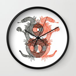 Two Serpents Wall Clock