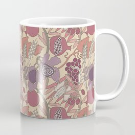 Seven Species Botanical Fruit and Grain in Mauve Tones Coffee Mug