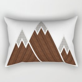 Concrete Mountains Rectangular Pillow