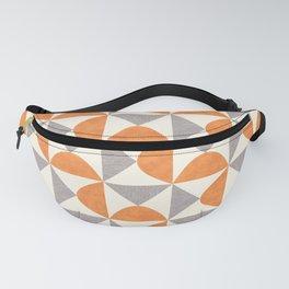 Orange and Gray Retro Minimalist Geometric Pattern Fanny Pack