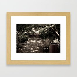 Alone in the Park Framed Art Print