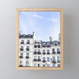 Paris Rooftop Windowboxes Framed Mini Art Print