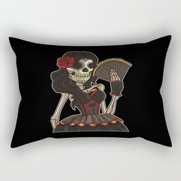 Skeleton Lady of the Dead | La Calavera Catrina Rectangular Pillow