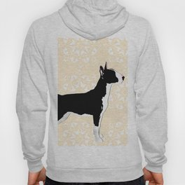 English Bull Terrier Dog in black Hoody