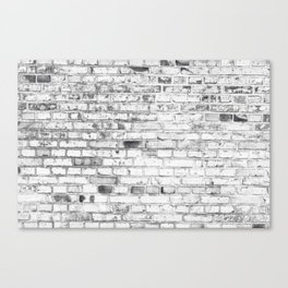 Withe brick wall Canvas Print