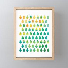 Monsoon Rain Framed Mini Art Print